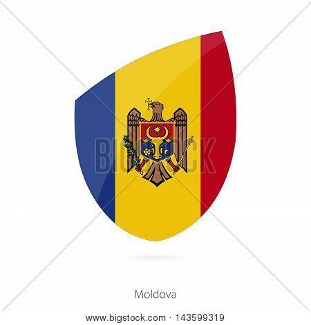 Flag Of Moldova. Moldovian Rugby Flag.