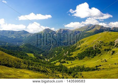 Beautiful green mountains in summer - Nockberge, Austria