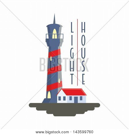 Lighthouse Vector Logo, Badge Or Label Concept