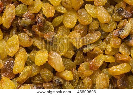 background dried raisin grapes close up shot