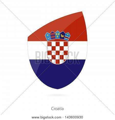 Flag Of Croatia. Croatian Rugby Flag.