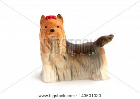 Dog Figurines On White Background