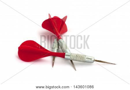 Three Darts On A White Background