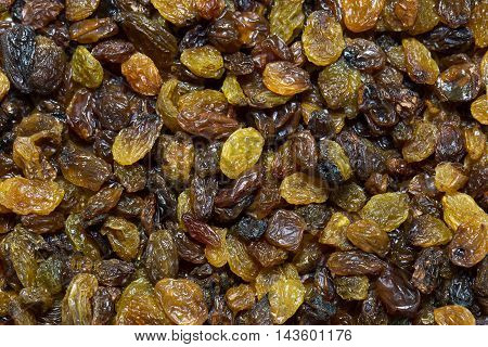 background dried raisin grapes closeup shot Feed