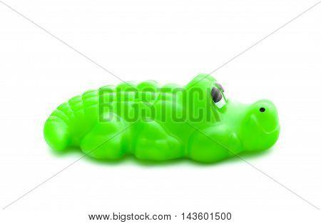 Bath Toy Crocodile On White Background
