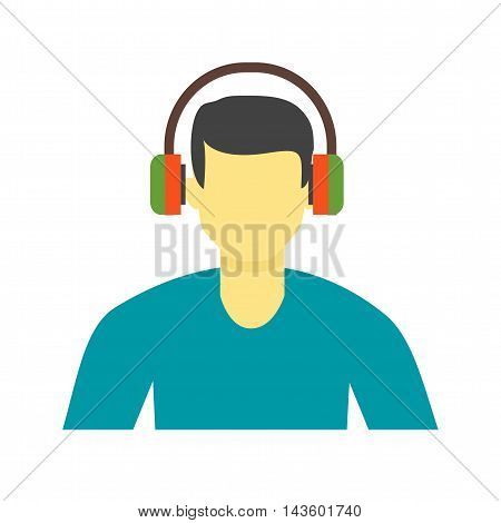 Music, listen, song icon vector image. Can also be used for music. Suitable for web apps, mobile apps and print media.