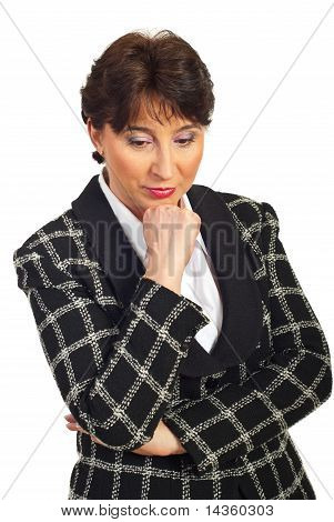 Sad Mature Business Woman