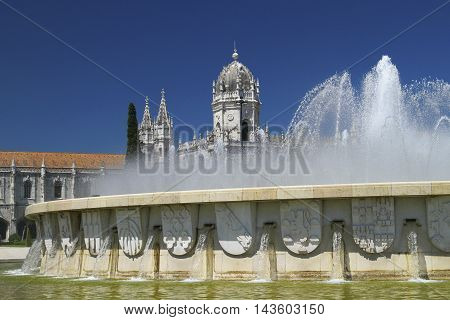 Jeronimos Monastery Portugal in the Lisbon Europe