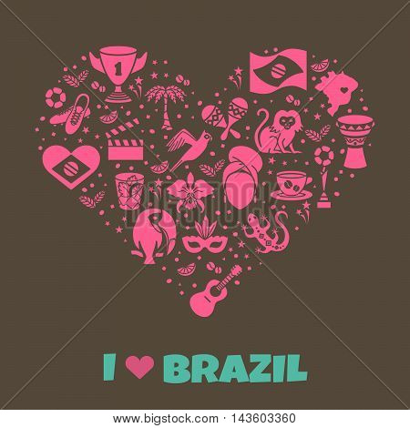 Brazilian thematic print 5. Vector illustration EPS 10