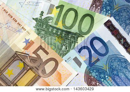 Euro banknotes - 100, 50, 20 euros