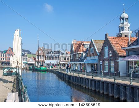 Village of Lemmer at Ijsselmeer in Frisia,Netherlands,Benelux