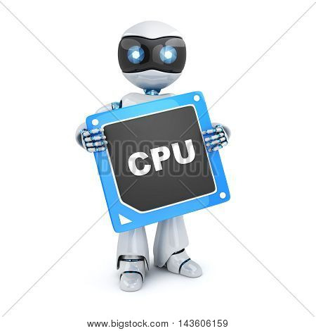 Robot and modern CPU (done in 3d rendering)