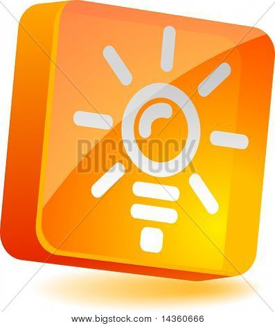 Idea 3d icon. Vector illustration.