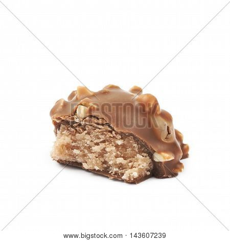 Chocolate confection candy isolated over the white background