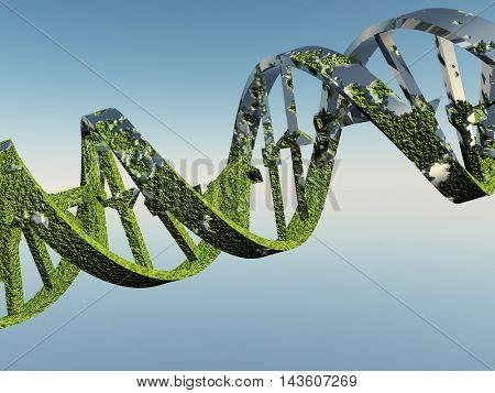 Damaged DNA Strands 3D Render