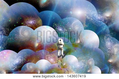 Space Walker 3D Render Elements of this image furnished by NASA