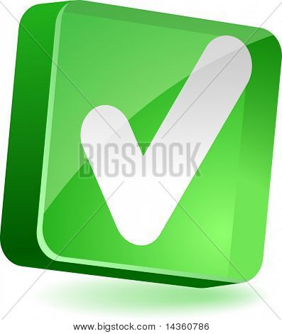Validation 3d icon. Vector illustration.