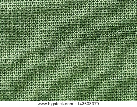 Abstract Green Textile Texture With Pattern.