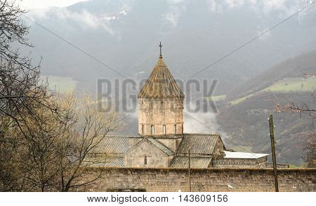 Ancient monastery Tatev in the mountains of Armenia. Was founded in year 906.