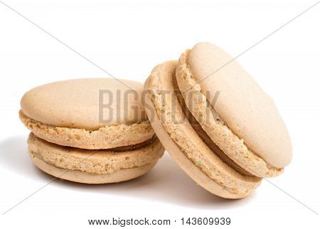 macaroon  confectionery dessert on a white background