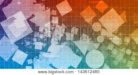 Creative Shapes Abstract on a Layout Grid for Web Design