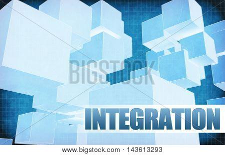 Integration on Futuristic Abstract for Presentation Slide 3D Illustration Render