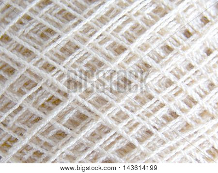 White color crochet yarn texture for background