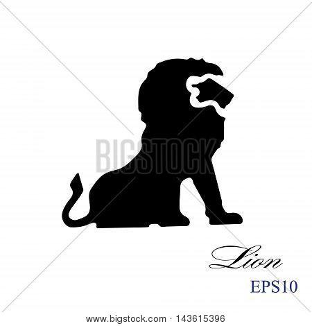 Lion silhouette.Template Logo. Company logo design.Lion s head in profile