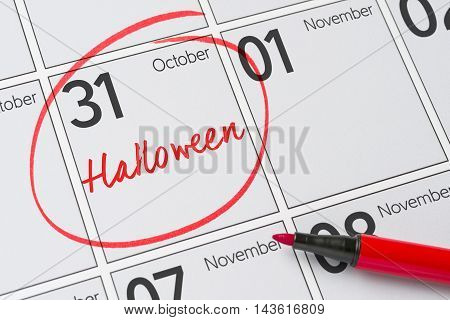 Halloween October 31 - Save the date
