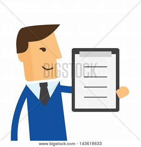 Businessman or manager. Illustration of business plan eps10