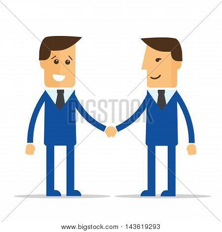 Businessmen shaking hands. Vector illustration eps 10