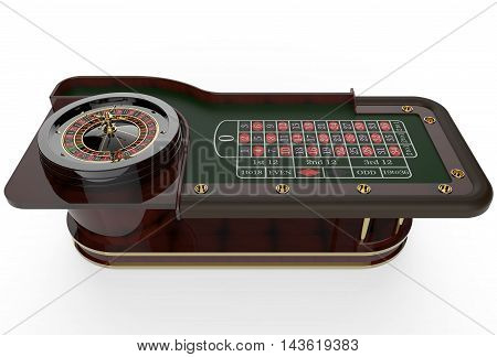 Casino roulette isolated on white. 3D render