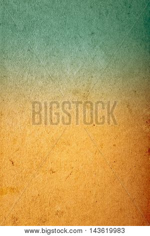 Abstract Old Blue And Orange Color Paper Vintage Background Texture For Design Artwork