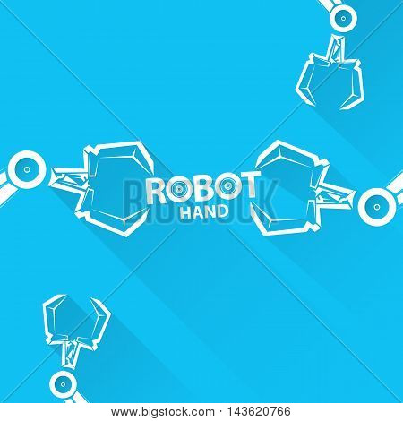 Clean technology background design template. vector robotic arm symbol. robot hand.
