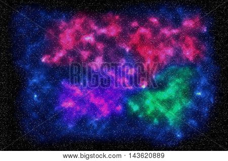 Universe space abstract, digitally created by computer software