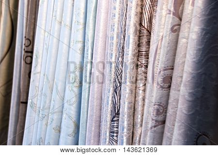 Soft colors Draped fabric fold for decoration texture background