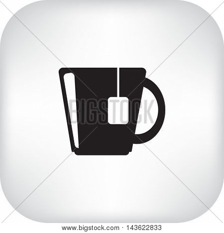 Flat icon. Hot tea.
