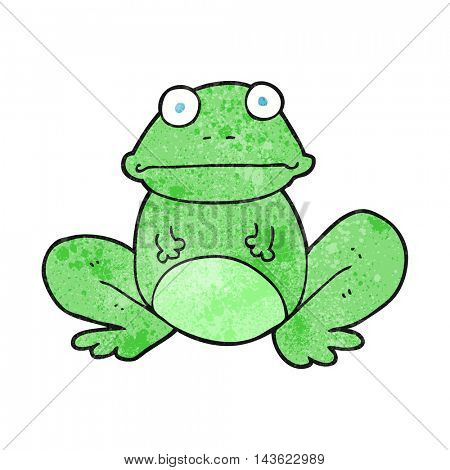 freehand textured cartoon frog