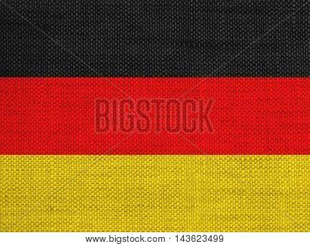 Flag On Old Linen