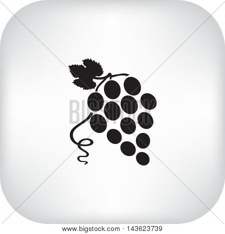Flat Icon Grapes.