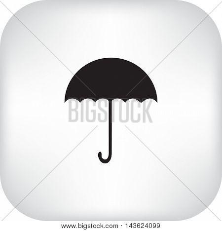 Flat icon. Umbrella.