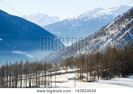 the beautiful mountains around bionaz in Valle d'Aosta