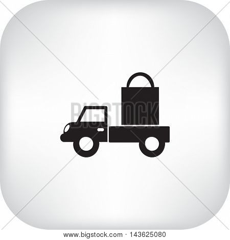 Flat icon. Delivery of purchases.
