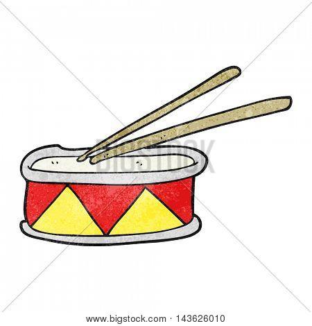 freehand textured cartoon drum
