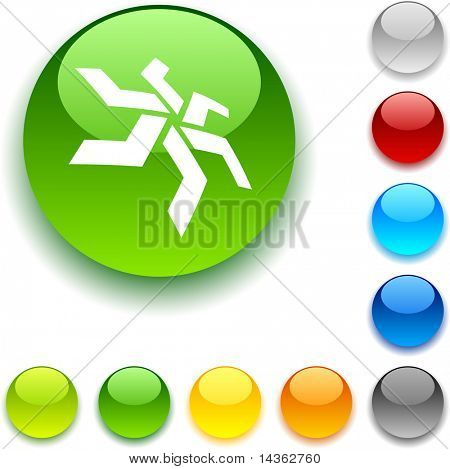 star shiny button. Vector illustration.