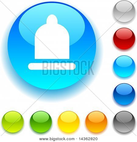 Condom shiny button. Vector illustration.