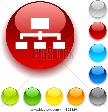 Network shiny button. Vector illustration.