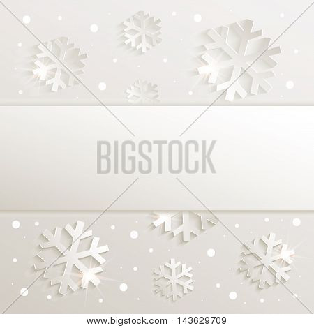christmas snowflake congratulations background natural raster blank template
