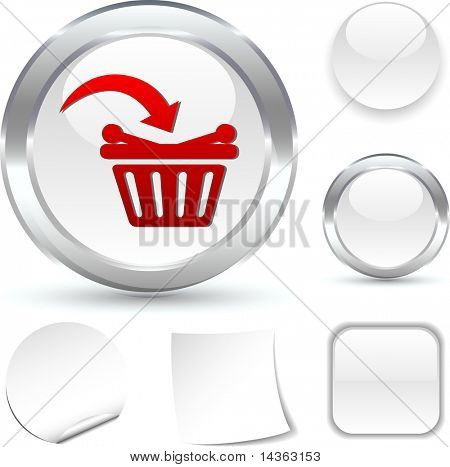 Buy  white icon. Vector illustration.