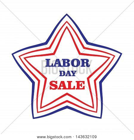 US Labor day. American Labor day discounts sale. Vector illustration.